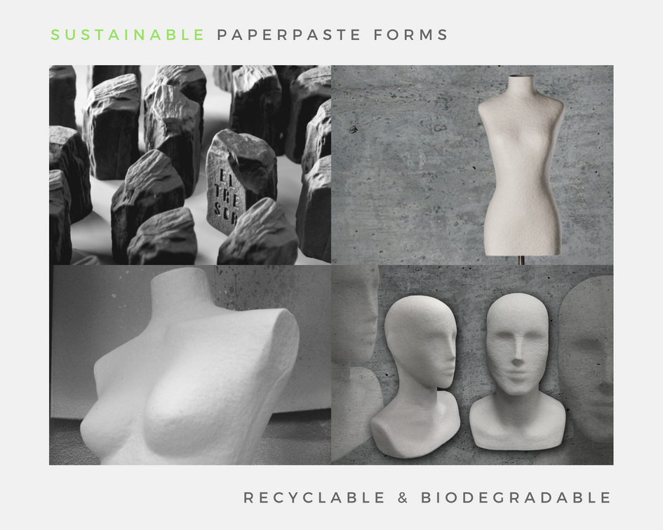 Sustainable-paperpaste-forms